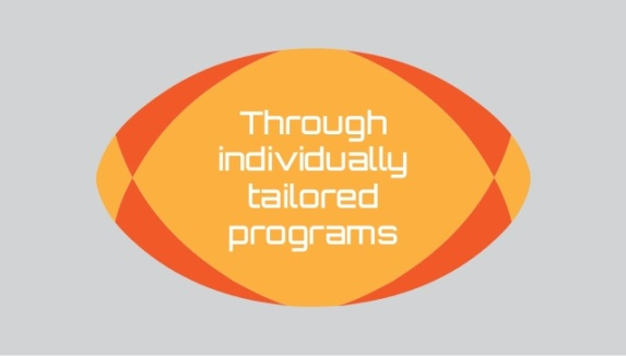 Through Individually Tailorted Programs